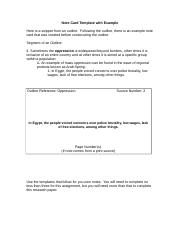 Note Card Template with Example