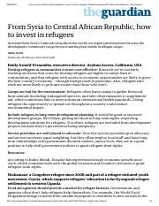 From Syria to Central African Republic, how to invest in refugees _ Global Development Professionals