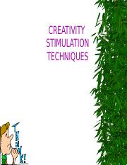 Lecture 6 Creative Stimulation Technique.pptx
