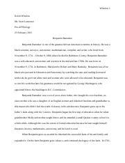 Benjamin banneker essay