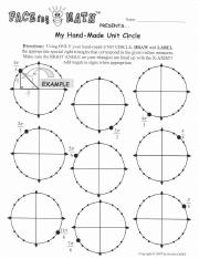 FACEing math Unit Circle HW