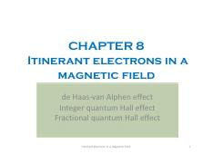 Condensed Matter Physics I_Chap8_2015