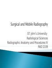 2 Surgical & Mobile C arm Procedures 2017 Student Version.ppt