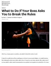 Week 1 - If Your Boss Asks You to Break the Rules.pdf