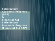 Academic SAP & Financial Aid SAP