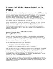Financial Risks Associated with MNCs.docx