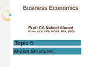 Lecture 5 - Market Structures_BE