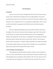 Personal Goal Paper-Time Management.docx
