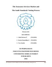 KELOMPOK 2_D3 PERPAJAKAN_KELAS A_The Assurance Services Market and The Audit Standards' Setting Proc