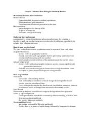 BSC 108 Chapter 14 Notes