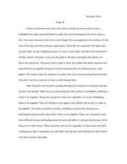 English 3 Romeo and Juliet essay