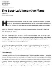 The Best-Laid Incentive Plans