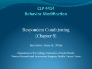 Psych Behavior Conditioning