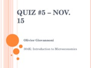 Quiz 5 - Nov. 15 - WITH ANSWERS