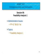 MGMT 310-Session 06 Feasibility Analysis 1 - Upload