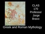 CLAS 170 Lecture 19 Demeter and Persephone