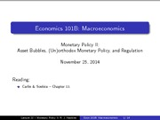 Lecture 23 - Monetary Policy II