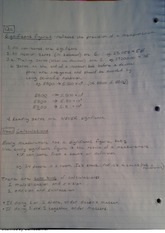 significant figures, class notes
