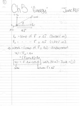 Phys 130 Class Notes- Energy