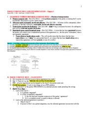 Contracts II - Parol Evidence Rule - Hall