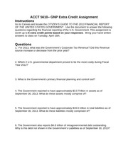 Financial Statment Guide to US Government 2014 Student Version