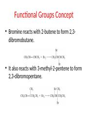 FUNCTIONAL GROUPS CONCEPT- 14TH NOV
