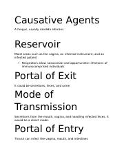 Causative Agents