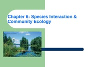 ES chapter 6 Community Ecology with pictures