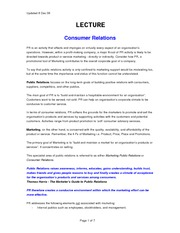 Week 9 Lecture Notes_Consumer Relations