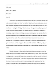China Essay- Race_class_gender - Asha Janay