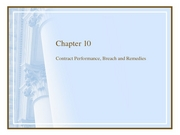 chapter_10 performance, breach, remedies