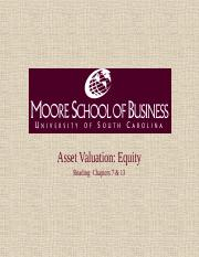 Asset Valuation - Equity