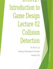 Lecture02 - Collision Detection.pptx