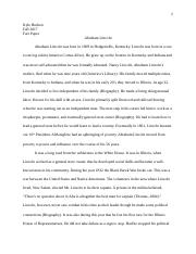 Fact Paper- Abraham Lincoln.docx