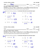 Quiz 3 Solution on Artithmetic with Signed Numbers
