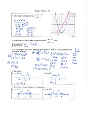 Ch. 7 Absolute Value & Reciprocal Functions Review