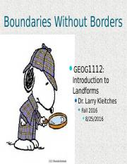 Boundaries Without Borders