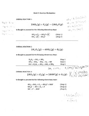 Reaction Mechanisms and Steps Notes and Examples