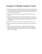 Chapter 6 Middle Eastern Food
