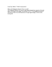Laura Gray  Math 117  Week 6 concept check