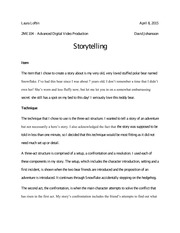 Assignment 1 Storytelling