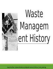 16 Waste Management History.pptx