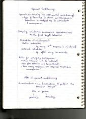 Notes on Operant Conditioning