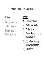 Lecture 04 DE - Water-There's No Substitute