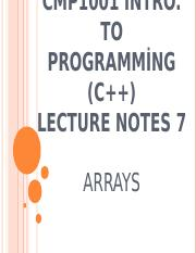 CMP1001_lecture_notes_7_arrays.ppt