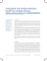 How Smaller Enterprises Benefit from Strategic Alliances_2012.pdf