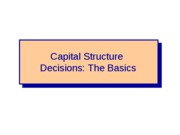 FIN+4414+-+Capital+Structure+Decisions+-+The+Basics+-+Chapter+16