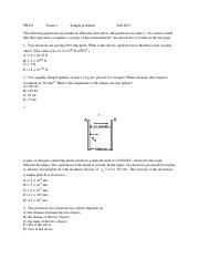PH122 Exam 1 Sample problems F15.pdf