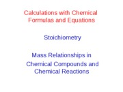 Lect 3 Stoichiometry Calculations-2010