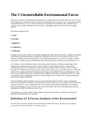 The 5 Uncontrollable Environmental Forces.docx